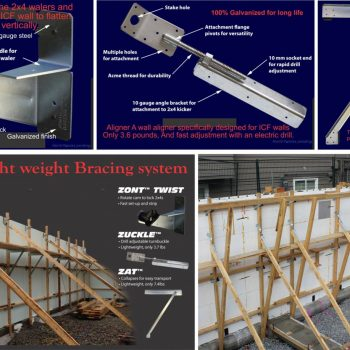 Bracket System for Wall 350x350 - Tci Building System